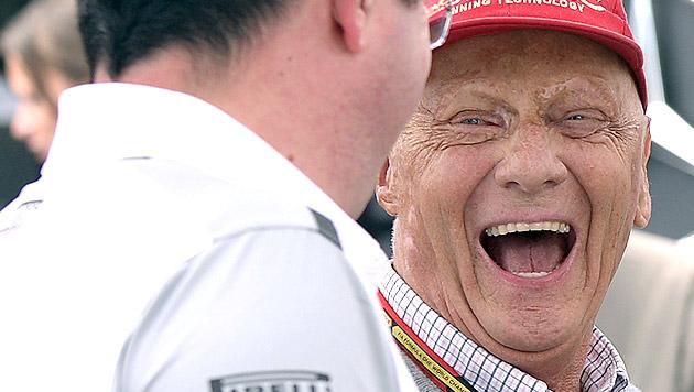 """Lauda: """"Formel 1 ist modern, frisch und dynamisch"""" (Bild: APA/EPA/HANS KLAUS TECHT)"""