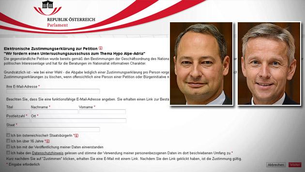 Petition für Hypo-Ausschuss darf doch weiterlaufen (Bild: Screenshot parlament.gv.at, APA/HELMUT FOHRINGER)
