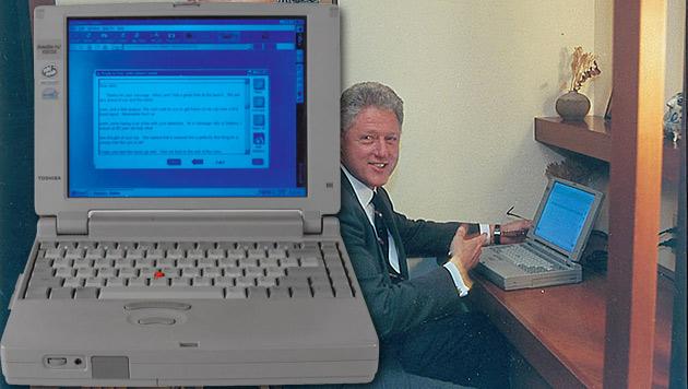 Mail ins All: Bill Clintons Notebook unterm Hammer (Bild: rrauction.com)
