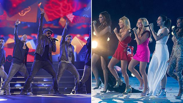 Backstreet Boys: Mit den Spice Girls auf Tour? (Bild: APA/EPA/ALBERTO MARTIN, EXPA/Johann Groder)