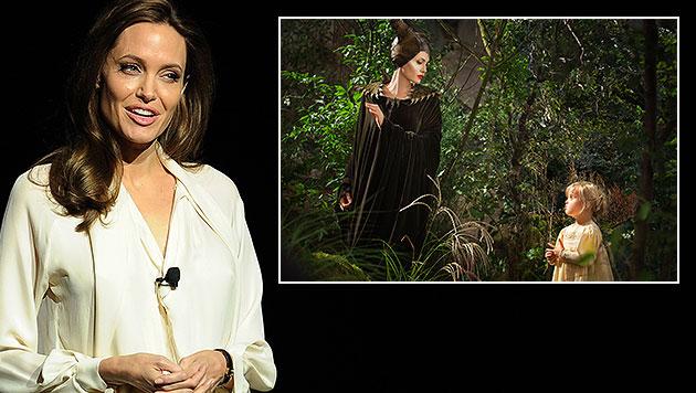 Hier stiehlt Vivienne Mama Angelina Jolie die Show (Bild: AP, Chris Pizzello/Invision/AP)