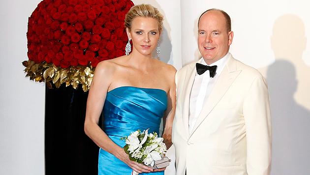 Ist Fürstin Charlene mit Zwillingen schwanger? (Bild: EPA)