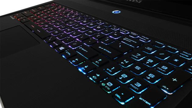 MSI bringt Gaming-Laptops mit Regenbogen-Tastatur (Bild: MSI)