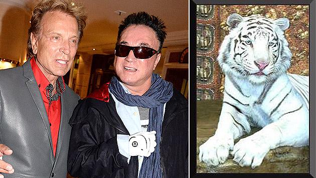 """Siegfried und Roy trauern um Tiger """"Montecore"""" (Bild: dpa/Felix Hörhager, Facebook.com)"""