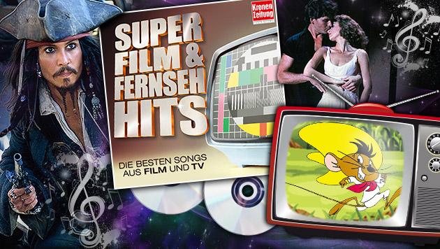 """Das sind die """"Krone Super Film- und Fernseh-Hits"""" (Bild: Sony Music, AP, ORF First Look, Krone Archiv)"""