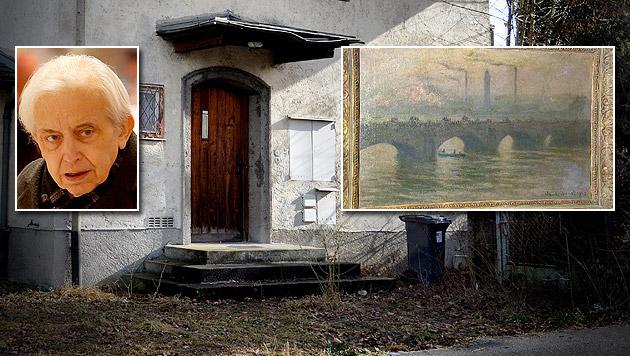 """In Gurlitts Haus in Salzburg fand sich unter anderem Claude Monets """"Waterloobridge"""". (Bild: APA/BARBARA GINDL, www.PHOTOPRESS.at, APA/ORF)"""