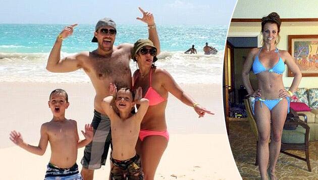Im Urlaub mit der Familie zeigte Britney Spears ihren sexy Bikini-Body. (Bild: twitter.com/britneyspears)