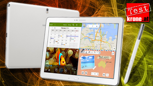Tablet als Arbeitstier? Galaxy Note Pro im Test (Bild: Samsung, thinkstockphotos.de, krone.at-Grafik)