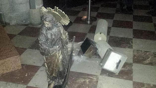 Asylwerber wütete in Wiener Kirchen (Bild: APA/LPD WIEN)