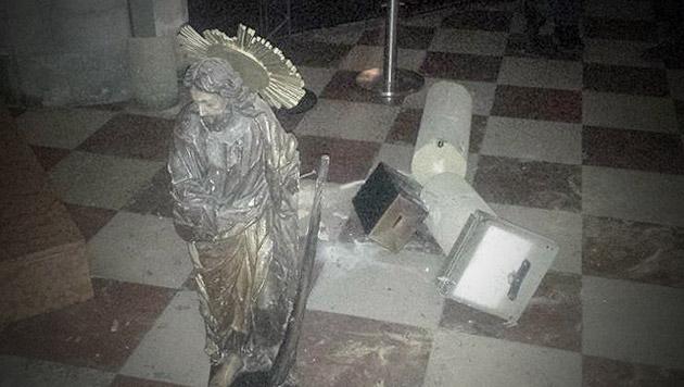 Wien: Kirche schätzt Schaden auf 150.000 Euro (Bild: LPD Wien)