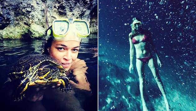 Cara und Michelle: Liebesurlaub in Mexiko (Bild: Instagram.com)