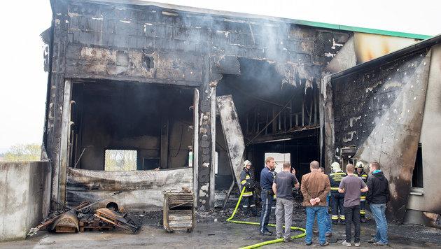 Großbrand wütete bei Helikopter-Hersteller in NÖ (Bild: APA/MERCHANT PICTURES/ALEXANDER KAUF)