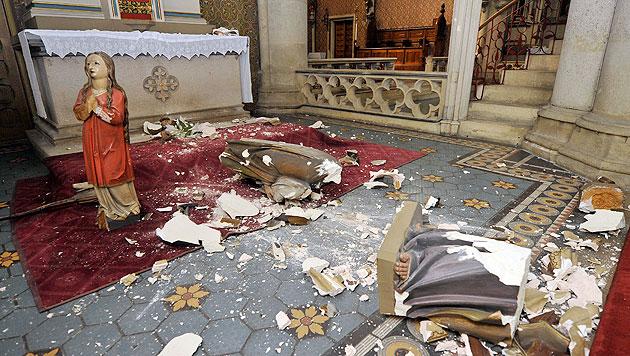Vandalenakte in Wiener Kirchen: Täter enthaftet (Bild: APA/HANS PUNZ)