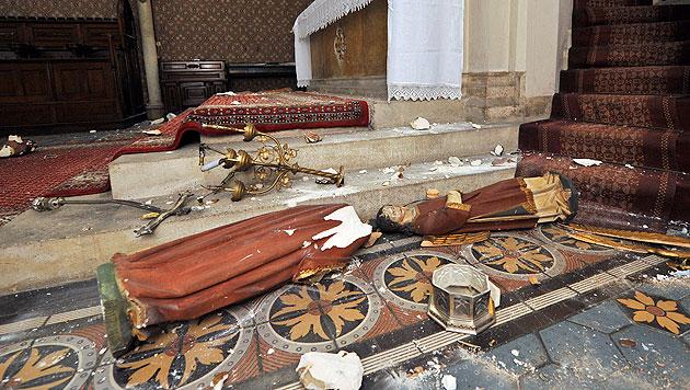Vandalismus in Kirchen: U-Haft über Mann verhängt (Bild: APA/HANS PUNZ)