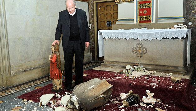 Wien: Kirche schätzt Schaden auf 150.000 Euro (Bild: APA/HANS PUNZ)