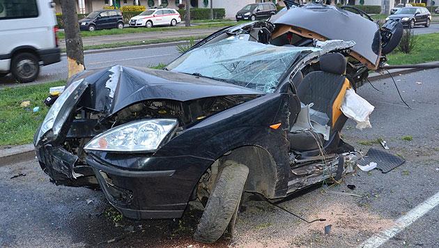 24-Jähriger bei Verkehrsunfall in Wien verletzt (Bild: APA/POLIZEI)
