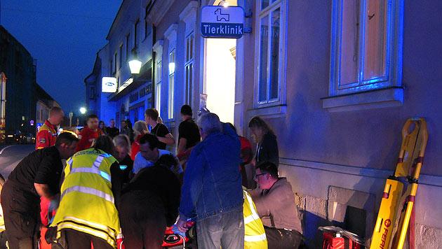 Lastenaufzug in NÖ abgestürzt - vier Verletzte (Bild: APA/FF BRUCK AN DER LEITHA)