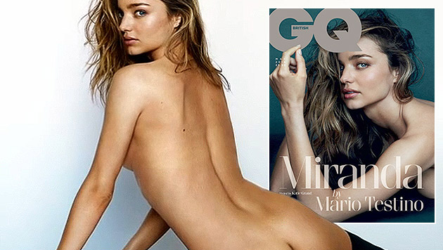"Miranda Kerr nackt am Cover des ""GQ""-Magazins (Bild: GQ, Zoom.in)"
