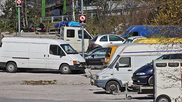 """Illegales Camp auf Parkplatz: """"Wir sind machtlos"""" (Bild: Christof Birbaumer)"""