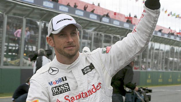 Button bestreitet in Bahrain 250. Grand Prix (Bild: AP)