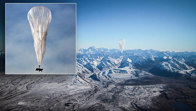 Google-Ballon flog in drei Wochen um die Welt (Bild: EPA)