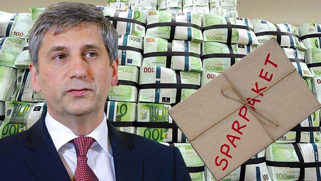 Regierung sicher: 2014 kommt kein Sparpaket (Bild: APA, DPA, krone.at-Grafik)