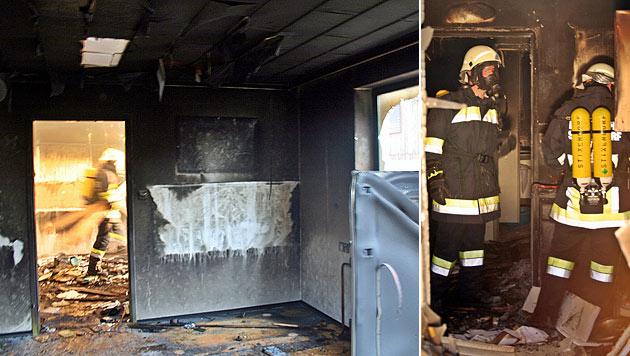 Heftige Verpuffung bei Küchenbrand in NÖ (Bild: BFKDO Krems)