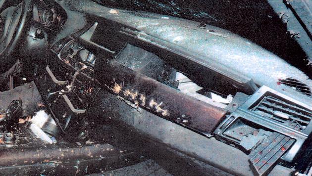Im Jänner explodierte in diesem Auto eine Handgranate - zwei Männer starben. (Bild: APA/POLIZEI)