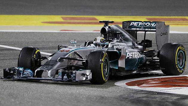 Hamilton gewinnt GP von Bahrain vor Rosberg (Bild: AP)