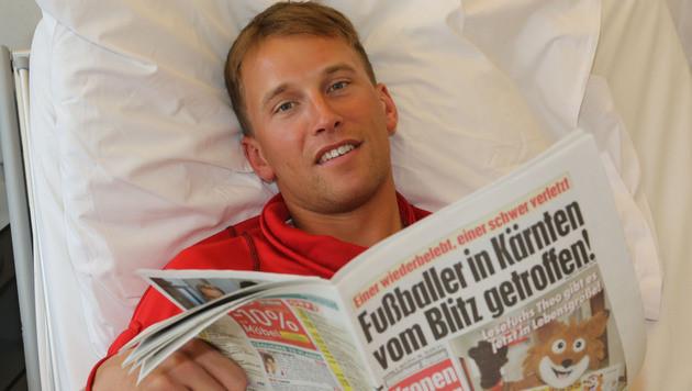Der 26-jährige Alexander Böhm kann schon wieder lachen. (Bild: Uta Rojsek-Wiedergut)