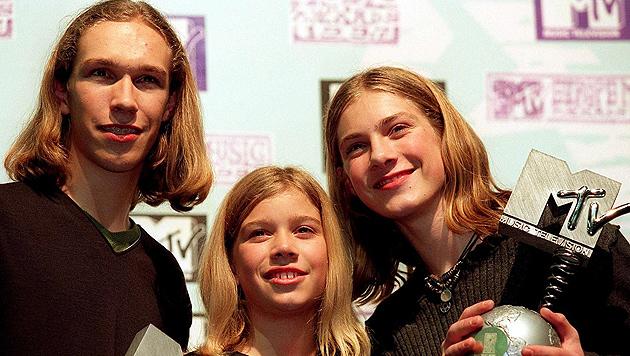 Waren sie nicht süß? Die Hanson-Brüder bei den MTV European Music Awards 1997. (Bild: EPA/picturedesk.com)