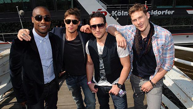 Blue beim Eurovision Song Contest 2011 in Deutschland. Sie erreichten Platz elf. (Bild: JOERG CARSTENSEN/EPA/picturedesk.com)