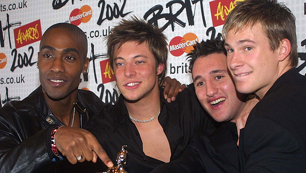 Blue bei den Brit Awards 2002. Drei Jahre später trennte sich die Band. (Bild: Alastair Grant/EPA/picturedesk.com)