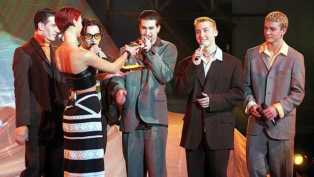 Ein Bambi für N'Sync im Jahr 1997. Die Band trennte sich 2002. (Bild: EPA/picturedesk.com)