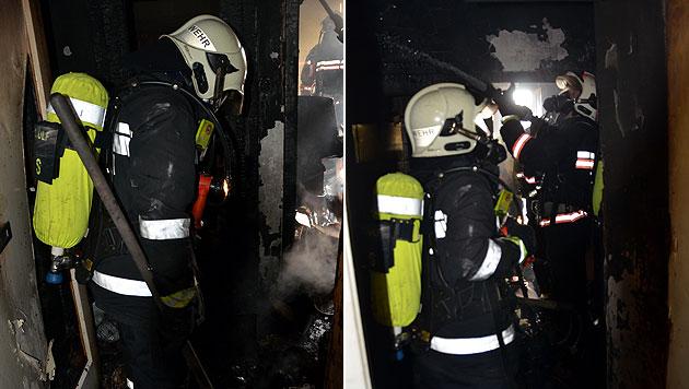 Floriani rettet Wienerin aus brennender Wohnung (Bild: MA 68 Lichtbildstelle)
