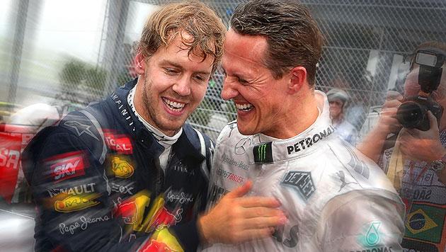 "Vettel: ""Hoffe, dass Schumacher bald aufwacht"" (Bild: JENS BUETTNER/EPA/picturedesk.com, krone.at-Grafik)"