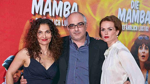 """Die Mamba""-Darsteller Proschat Madani, Michael Niavarani und Melika Foroutan (v.li.) (Bild: Alexander Tuma)"