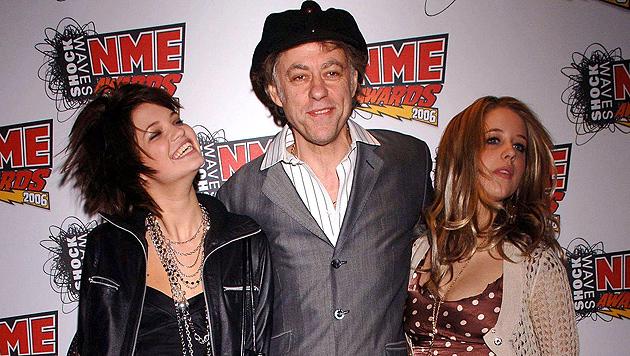 Pixie und Peaches mit Papa Bob Geldof 2006 (Bild: AP)