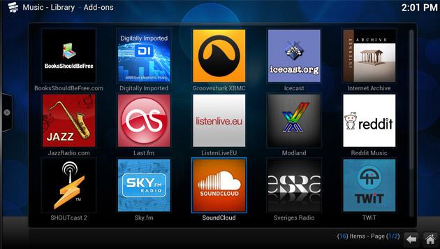 Mit zahlreichen Add-ons für Musik und Videos lässt sich die Software beliebig erweitern. (Bild: xbmc.org)