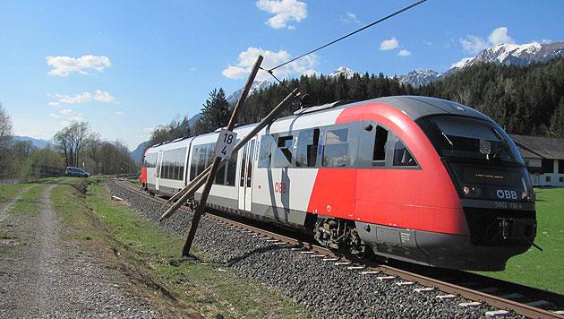 Zug reißt fünf Telefonmasten aus dem Boden (Bild: Polizei)