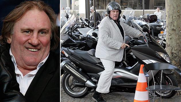 Führerschein-Trick: Depardieu trotzt Alko-Urteil (Bild: AFP, EPA/YOAN VALAT)