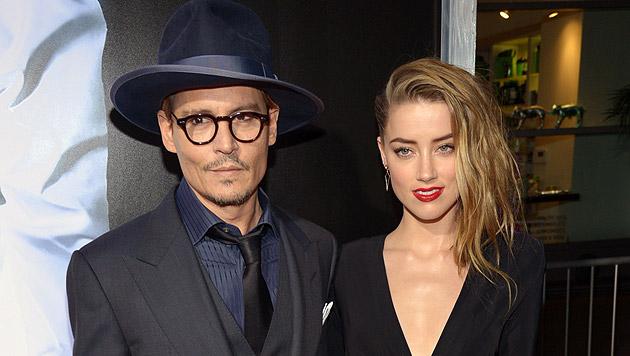 Johnny Depp und Amber Heard sind seit zwei Jahren ein Paar. (Bild: Invision)