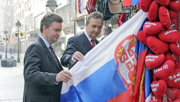 Kaiser-Enkel auf historischem Besuch in Belgrad (Bild: Klemens Groh)