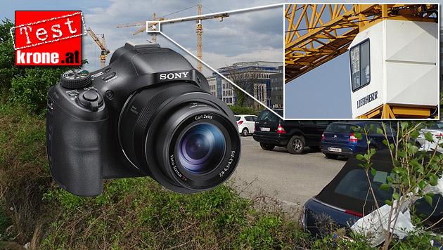 Kamera für Spechtler: Sonys HV400V im Test (Bild: Sony, Sebastian Räuchle, krone.at-Grafik)