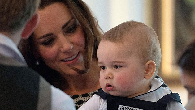 Kate, Charlotte, Madeleine: Unser erster Muttertag (Bild: APA/EPA/MARTY MELVILLE, AP)