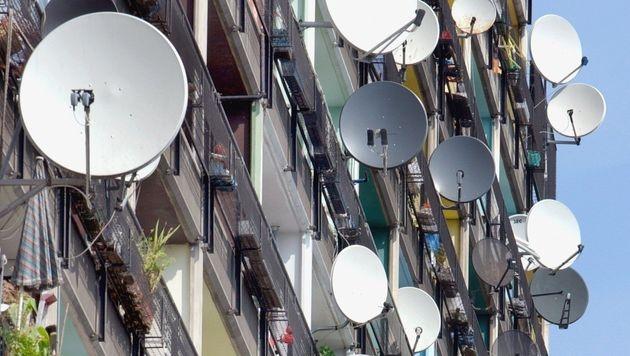 Zwei Millionen Haushalte empfangen TV via Satellit (Bild: dpa/Stephanie Pilick)