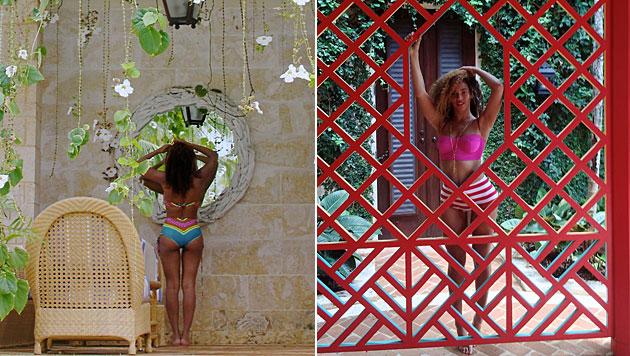 Schon einmal sorgte Beyonce mit retuschierten Urlaubsbildern für Aufsehen. (Bild: tumblr.com)