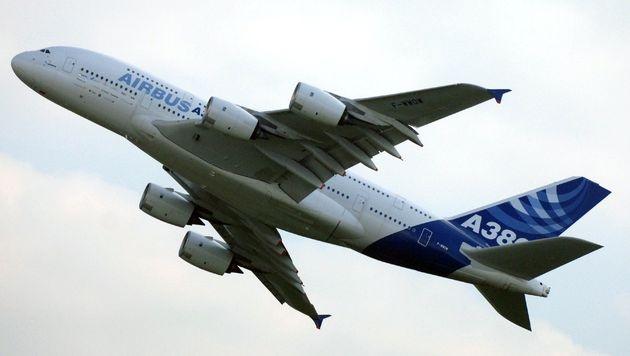 Superjumbo landet im Mai auf Wiener Flughafen (Bild: dpa/dpaweb/dpa/Pool/A3390 Kay Nietfeld)