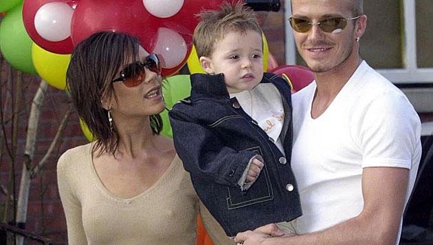Söhnchen Brooklyn ist das erste von vier gemeinsamen Kindern der Beckhams. (Bild: David Jones/EPA/picturedesk.com)