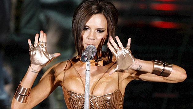 Victoria Beckham 2007: Mit den Spice Girls wieder auf der Bühne. (Bild: Victor Lerena/EPA/picturedesk.com)